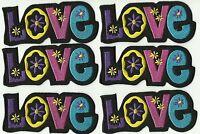 Patch écusson blason patche Coeur Love and Death thermocollant