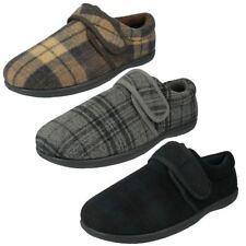 Pantofole da uomo grigie con a strappo