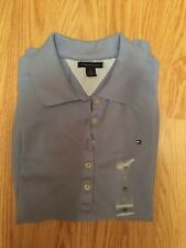 Tommy Hilfiger Shirt New Women's Size Blue 96% Cotton And 6% Spandex