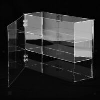 Acrylic Display Case 3-layer Dustproof for Blocks Toys Car Model 32x10x24cm