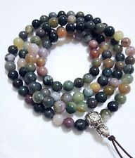 8mm Tibet Buddhism 108 India Jade Prayer Bead Mala