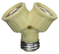 Cooper - 700V-BOX (660-Watt, 250-Volt) Twin Light Socket Adapter, Ivory