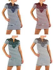 Markenlose Kurzarm Damenkleider aus Baumwolle
