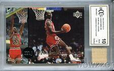 1995 UD Decade of Dominance#J3 Michael Jordan+GU BULLS FLOOR BECKETT 10 MT GGUM