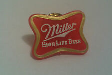 Vintage Miller High Life Beer Small Plastic Pin Mequon Sales Guides Wi. Usa