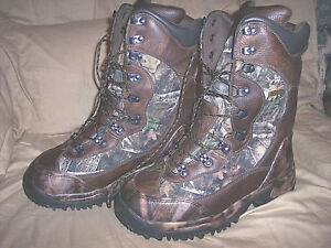 Inferno 2000-Gram Boots Mens 10 Camo Boots Extreme Cold Weather Hunting Boots