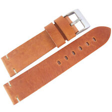 20mm ColaReb Siena SHORT Tan Leather Made in Italy Watch Band Strap