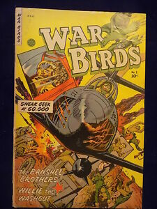 1952 Fiction House War Birds # 1 Comic Book