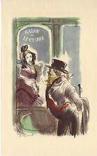 ILLUSTRATION de G. BARRET - Un homme d'affaires - H. de Balzac - 1949.