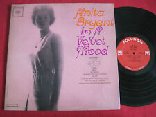 RARE CHEESECAKE MONO LP - ANITA BRYANT - IN A VELVET MOOD - COLUMBIA CL 1885