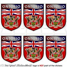 ONTARIO Province Shield Canada Canadian Mobile Cell Phone Mini Sticker-Decal x6