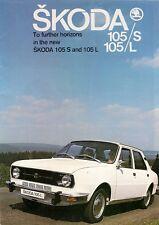 Skoda Estelle 105 1977-78 UK Market Sales Brochure S L