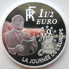 2006 France Large Silver Proof 1.5 euro R.Schuman