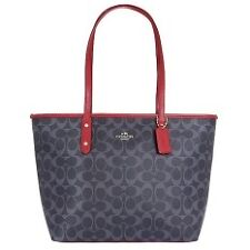 ♥ COACH SIGNATURE DENIM CITY ZIP TOTE BAG F37475