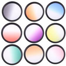 55mm 9pcs Graduated Gradual Color Filter Kit for Canon Nikon Sony Sigma Tamron