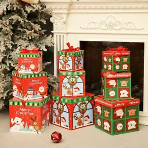 Stacking Boxes Gift Box Decoration Christmas Decoration Christmas Nesting Boxes