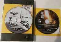 The Last of Us and Batman Arkham City PS3 Disc Only Playstation 3 Tested