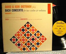 DAVID & IGOR OISTRAKH play Bach Concerto for 2 Violins MONITOR MC 2009
