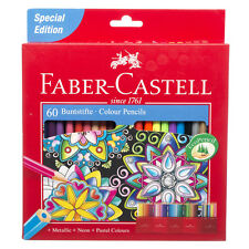 Faber-Castell Assorted Colouring Pencils Metallic Neon And Pastel Eco Pack of 60