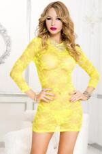 Music Legs long sleeve lace mini dress