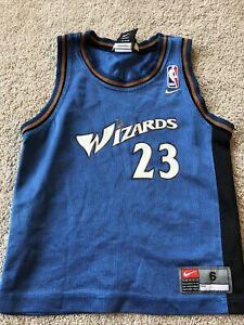 NBA NIKE TEAM Michael Jordan #23 Washington Wizards SIZE 6 Blue & Black JERSEY