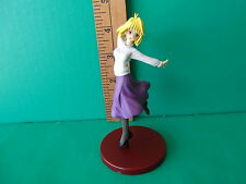 "Melty Blood Arcueid Brunestud beautiful blonde hair really happy pose 4.5""in PVC"