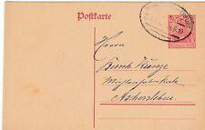Bahnpost, Bahnpoststempel Magdeburg-Erfurt, DR Postkarte v. 1919