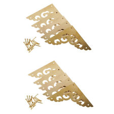 10x Antique Brass Flat Corner Protector Guard For Gift Box Jewelry Wood Case