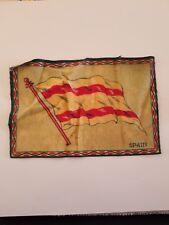 Vintage and Rare early 1900s Cigar Box Felt silk flag, Spain