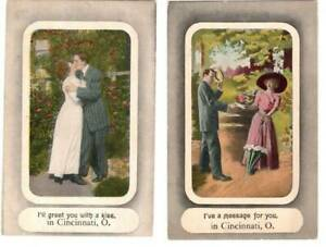 [22588] Romantic Couple - Greet you with a kiss Cincinnati Ohio - early 1900s