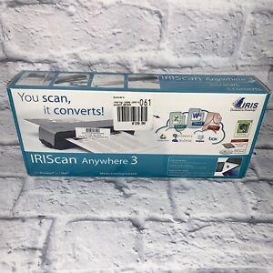 BRAND NEW IRIScan 457485 Anywhere 3 Wireless Portable 600 dpi Color Scanner