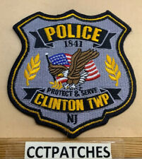 CLINTON TOWNSHIP, NEW JERSEY POLICE SHOULDER PATCH NJ
