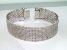 Breites schweres Armband 585 Weißold 14Kt Gold 57,61 Gramm 20cm Länge
