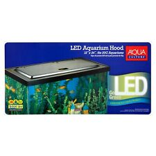 Fish Aquarium Tank 20 Or 55 Gallon With Hood LED Light For Fresh Saltwater
