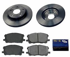 Front Ceramic Brake Pad Set& Rotor Kit for 2006-2007 Honda Civic DX-EX-HYBRID-LX