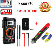 Kaiweets Digital Multimeter With Case Dc Ac Voltmeter Km100 Amp Electrical Pen