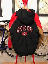 VTG San Francisco 49ers Competition NFL Football Parka Hood Jacket Coat Sz L
