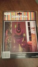 "Halloween Crashed Witch 22"" x 60"" Purple Indoor/Outdoor Weatherproof"