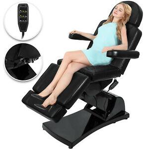 4 Motors Electric Facial Chair Beauty Massage Table Bed Laser Skin Tattoo Makeup