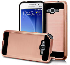 For Samsung Galaxy SKY S320VL Hybrid Brushed Metal Pattern Slim Case Phone Cover