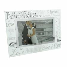 Mr and Mrs 3d Words Wedding Photo Frame Gift Juliana Collection