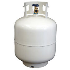 20 lb. New White Propane Tank / LP Gas Cylinder With New ACME / OPD Valve