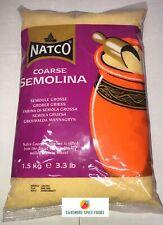 COARSE SEMOLINA - SUJI - NATCO - 1.5kg