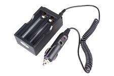 Nuevo Cool Salida 4.2 V Batería Cargador Para 2 Piezas 18650 + 12v Cargador de coche adaptador