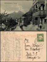 Berchtesgaden Strassen Ansicht, Blick vom Nonntal, Junge vor Haus 1909/1906