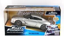 "BRIAN'S NISSAN GTR R35 SILVER  ""FAST & FURIOUS "" MOVIE 1/24 BY JADA 97212"