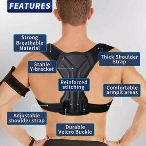 Posture Corrector for Men & Women Upper Back Brace Straightener, Adjustable Clav