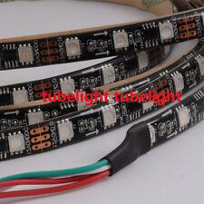 5M Waterproof WS2811 IC 5050RGB Dream Color 60LED/M DC12V Pixel Strip Black PCB
