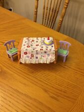 Fisher-Price Loving Family Dollhouse Musical Table Birthday Party Pizza Flip