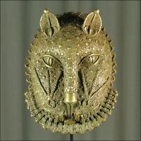 62330) Afrikanische Bronze Maske Nigeria Afrika KUNST